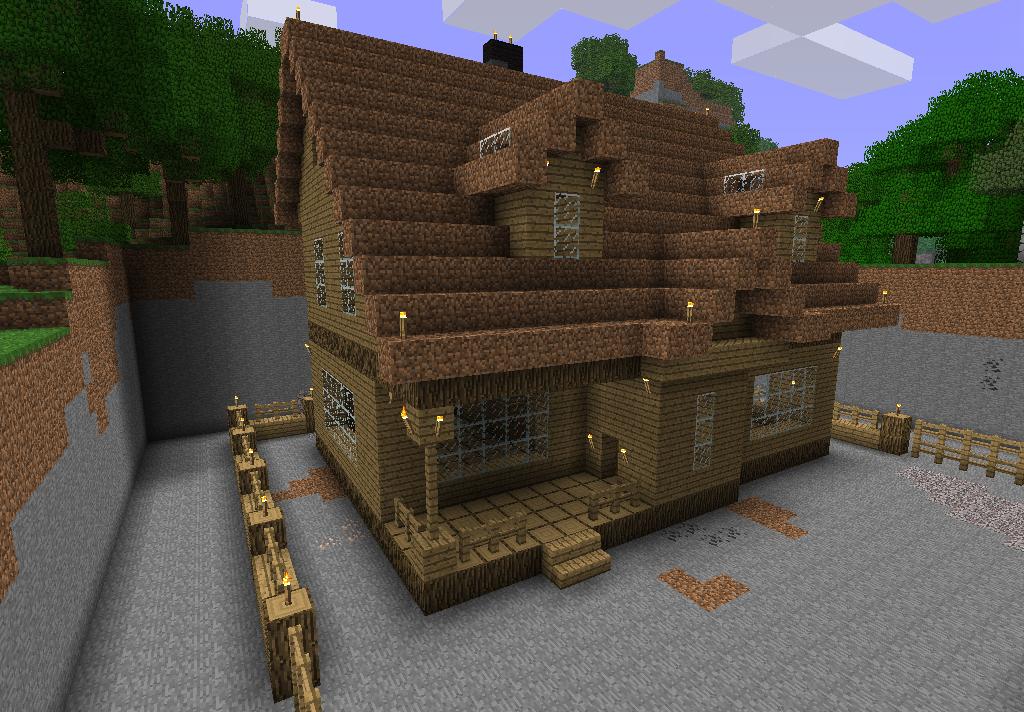 minecraft постройки домов
