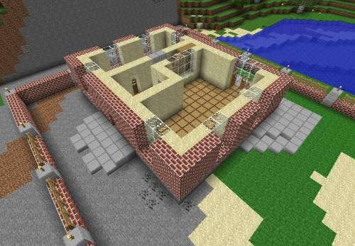 чертеж дома в minecraft
