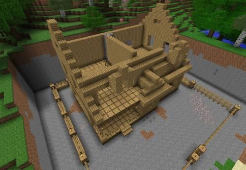 мой дом в Minecraft.