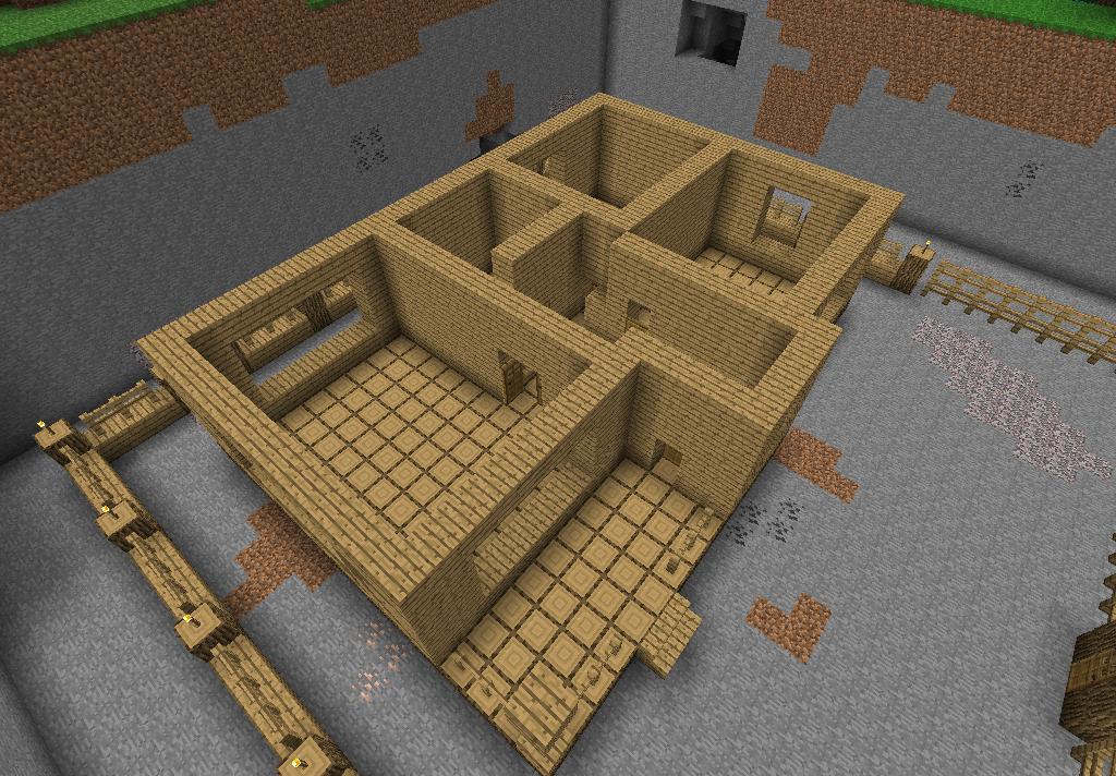 Постройки в Minecraft.
