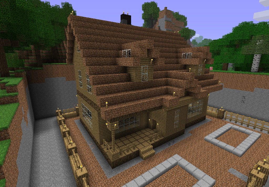Дом из майнкрафт схема