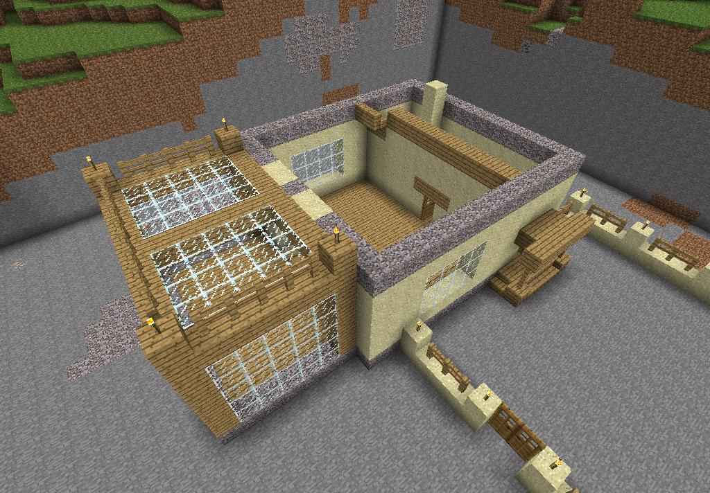 схема постройки дома из песка.